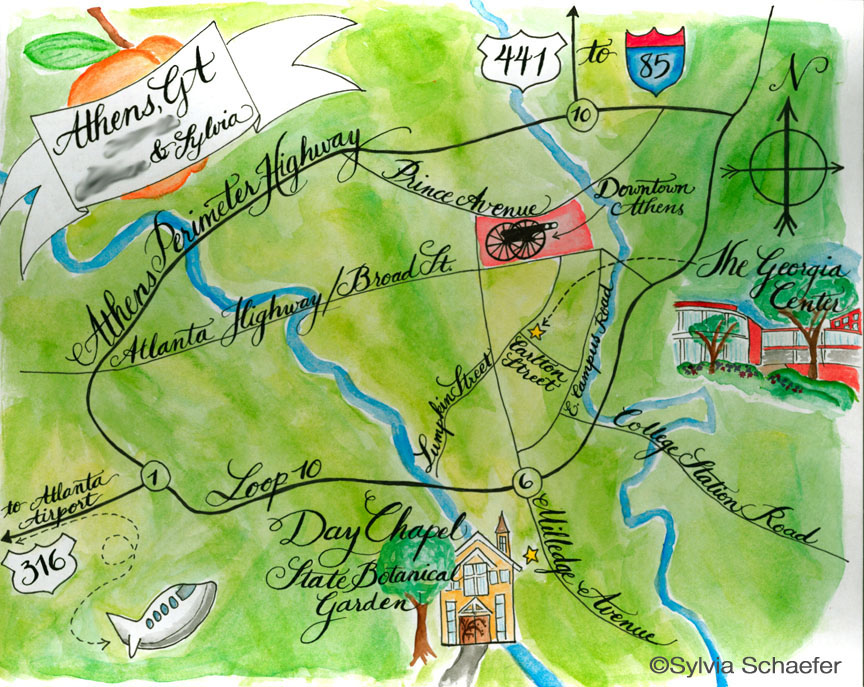 Wedding map by Sylvia Schaefer