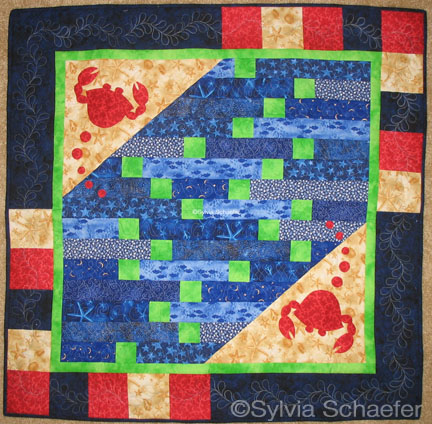 Crabby baby quilt