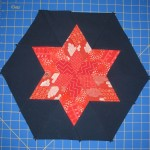 Mini Lone Star Hexie tutorial from Flying Parrot Quilts