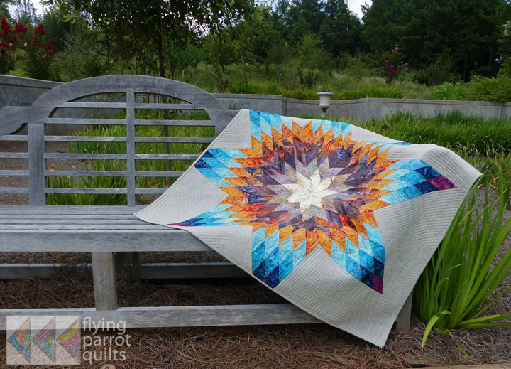 Southwest Lone Star quilt by Sylvia Schaefer