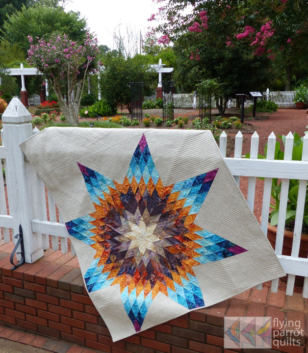 Lone Star quilt finish!