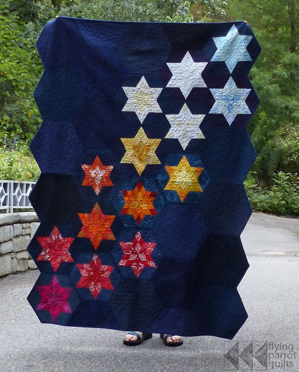 Astronomy quilt finish