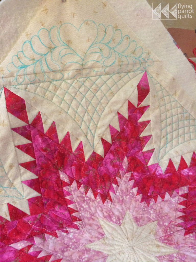 Feathers everywhere quilting by Sylvia Schaefer