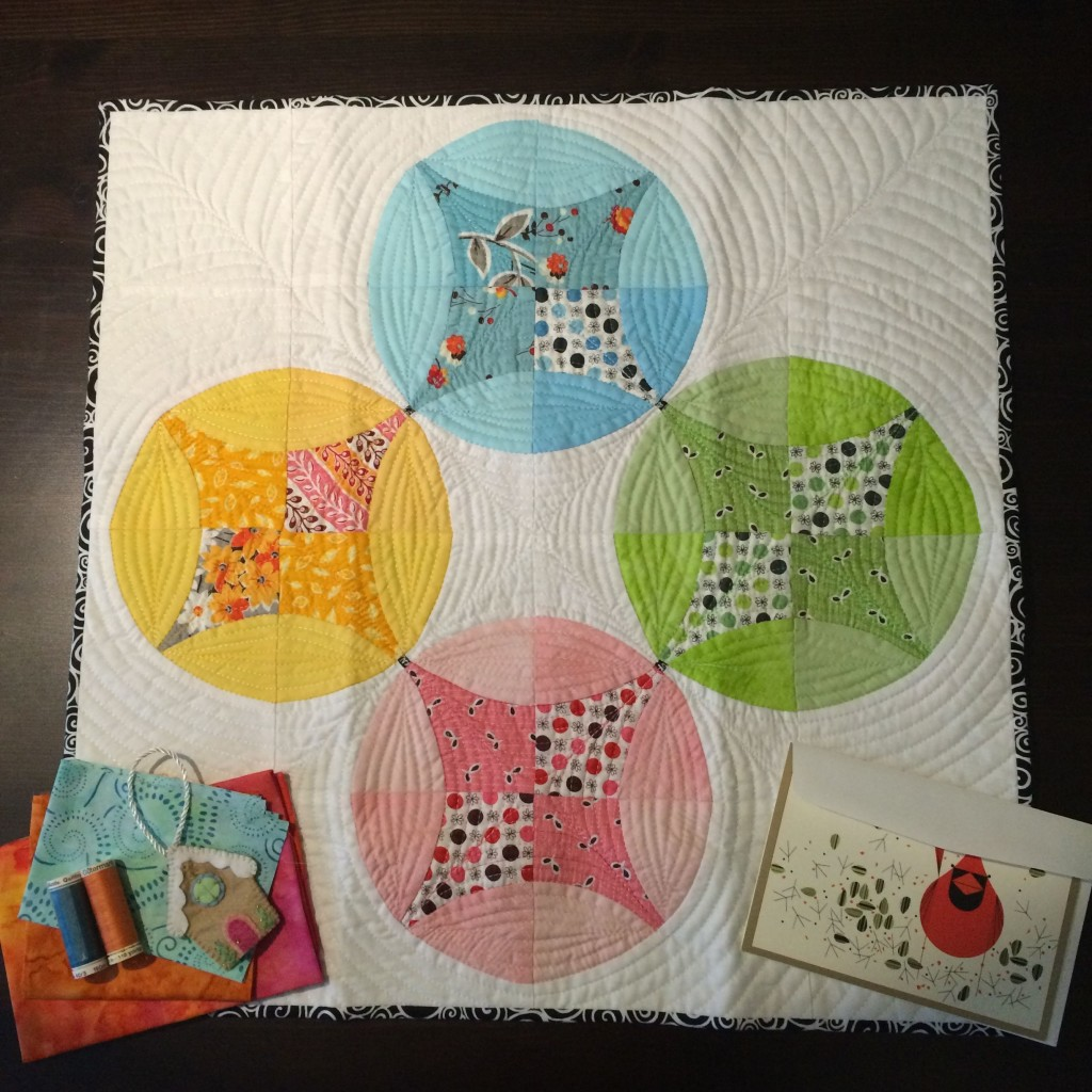 Flowering Snowball mini quilt by silort