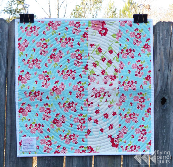 backing of mini swap quilt | Flying Parrot Quilts