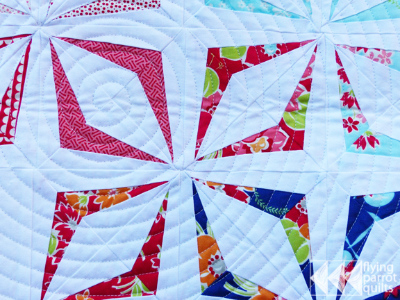 detail of mini swap quilt | Flying Parrot Quilts