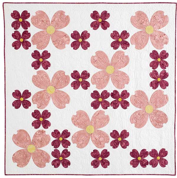 Dogwood Blossoms Appliqué Quilt (and pattern!)