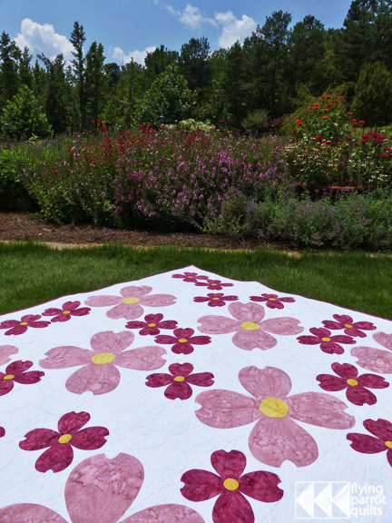Dogwood Blossoms quilt, in McCall's Quick Quilts Apr/May 2015 | Flying Parrot Quilts