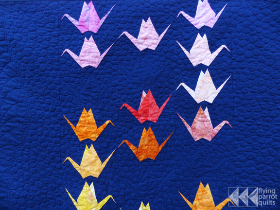 Paper Cranes quilt pattern available!