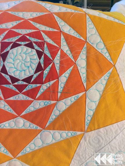 The Disintegration of the Persistence of Artichokes quilting   Flying Parrot Quilts