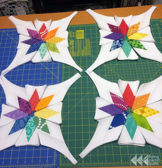 Celestial Orbs assembly | Flying Parrot Quilts