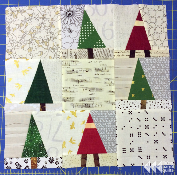 Trees and Gnomes quilt block tutorial | Flying Parrot Quilts