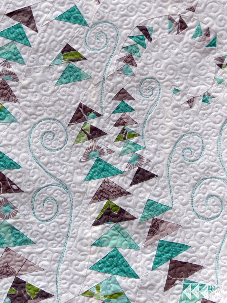 Geese in the Ferns detail | Flying Parrot Quilts