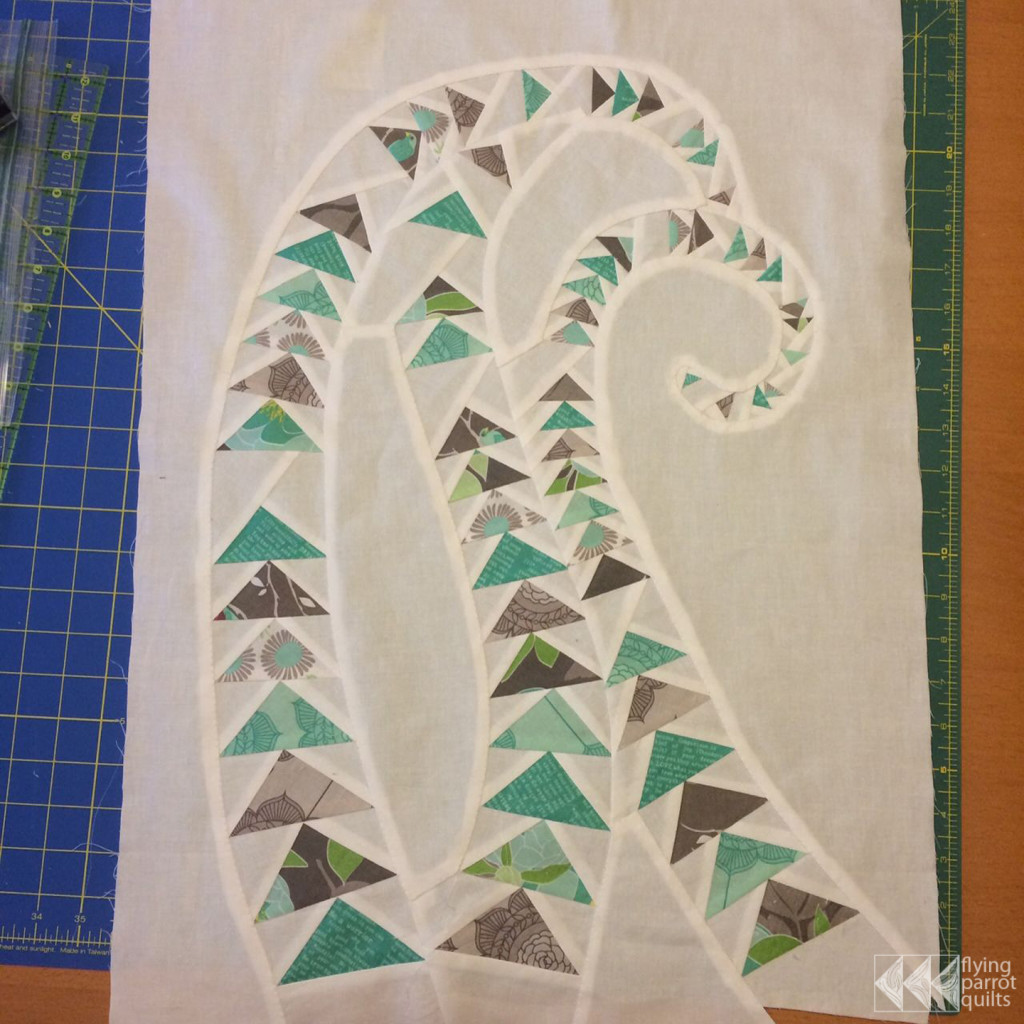 Geese in the Ferns finished top | Flying Parrot Quilts