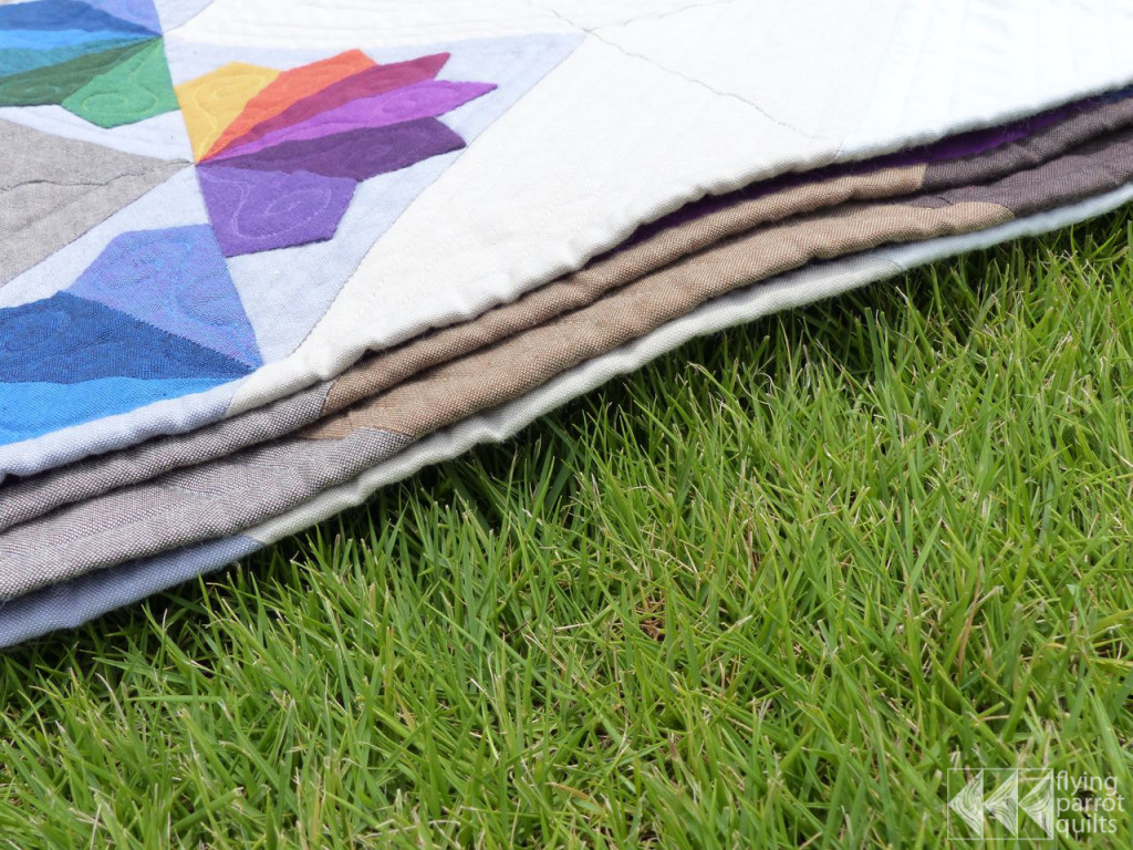 Mountain Rainbows binding | Flying Parrot Quilts