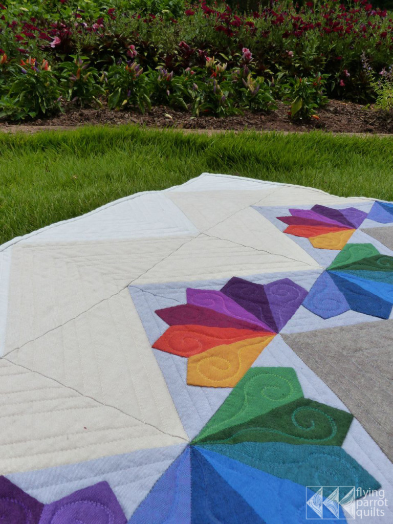 Mountain Rainbows detail | Flying Parrot Quilts