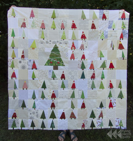 gnomes & trees top | Flying Parrot Quilts