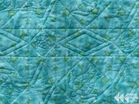 Turtle Storm at Sea backing | Flying Parrot Quilts
