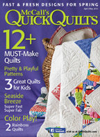 McCall's Quick Quilts, April/May 2015: Dogwood Blossoms Quilt Pattern