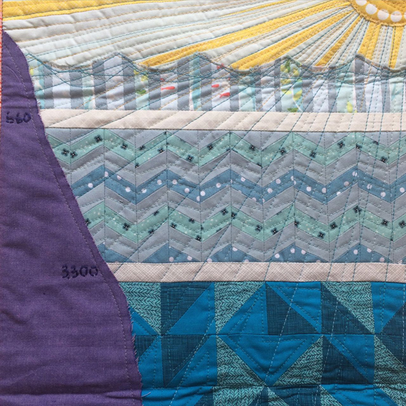 Ocean Profile quilt by Meredith Russian