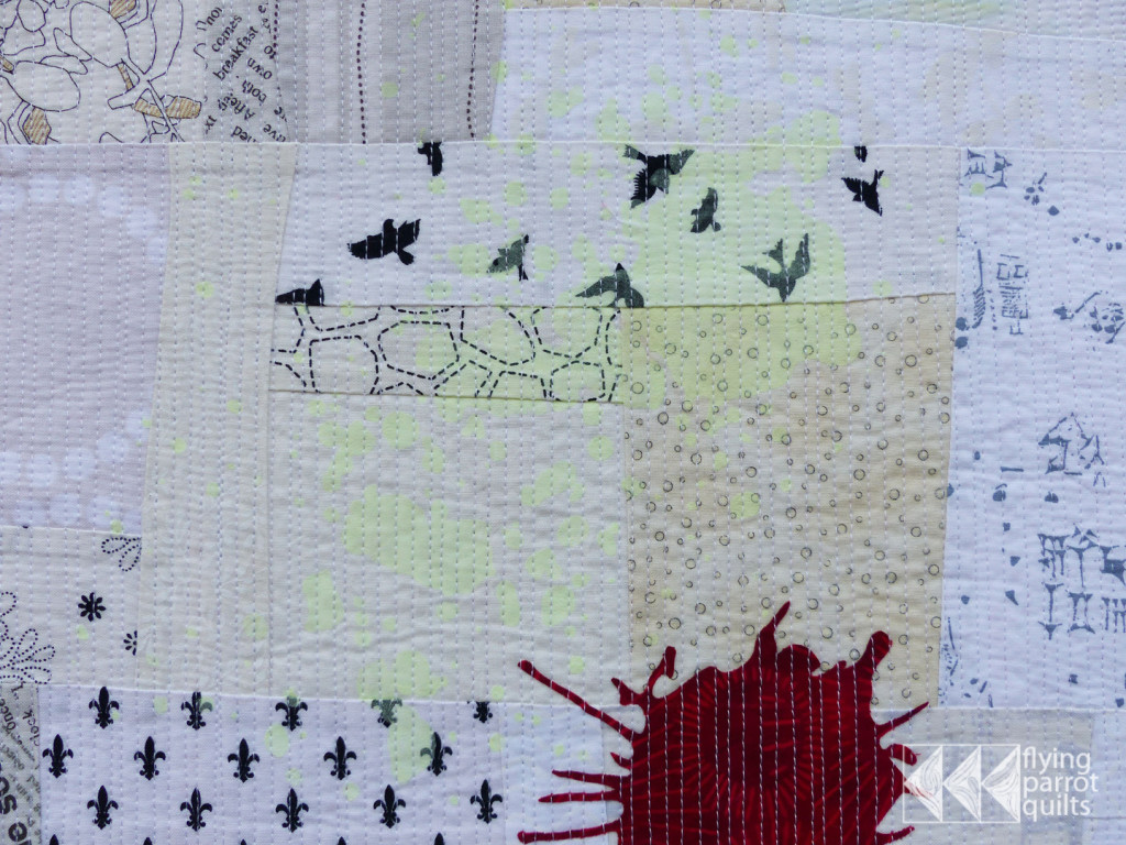 Out Damned Spot! screen print detail | Flying Parrot Quilts