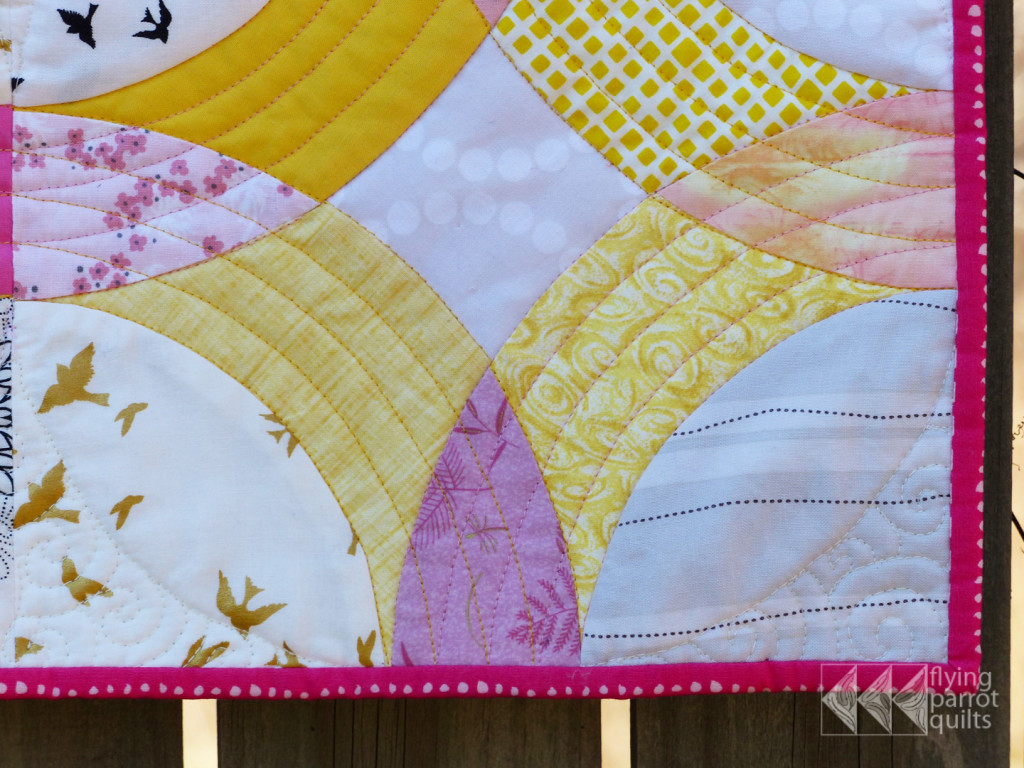 Rainbow Mini swap 2 detail | Flying Parrot Quilts
