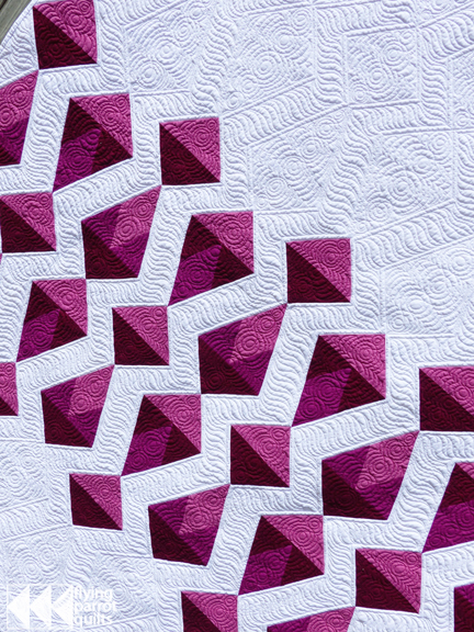 Red Diamonds quilt detail |  | Flying Parrot Quilts