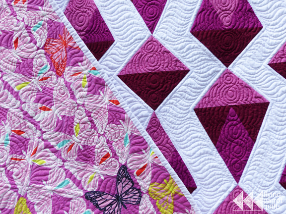 Red Diamonds with backing | Flying Parrot Quilts