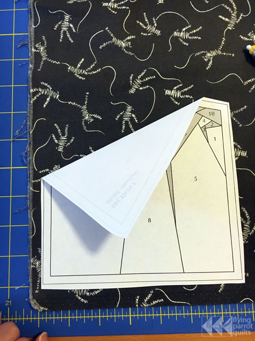 Fabric Cutting for Paper Piecing | Flying Parrot Quilts