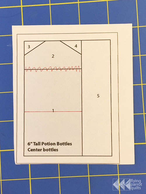 Variable Potion Bottles | Flying Parrot Quilts