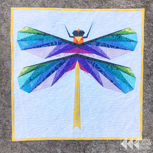 Gossamer Wings mini quilt | Flying Parrot Quilts
