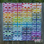 Rainbow Union Jack quilt | Flying Parrot Quilts