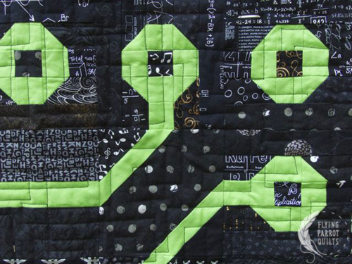 Detail of Circuit Board quilt by Sylvia Schaefer/Flying Parrot Quilts | www.flyingparrotquilts.com