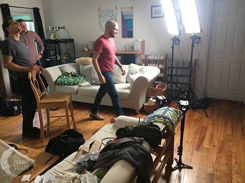 Craftsy film crew by Sylvia Schaefer/Flying Parrot Quilts   www.flyingparrotquilts.com