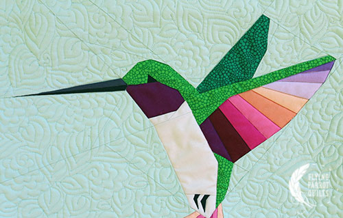 Detail of Tiny Jewel by Sylvia Schaefer/Flying Parrot Quilts   www.flyingparrotquilts.com