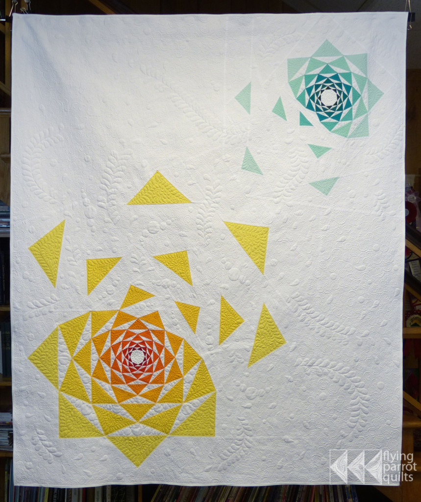The Artichoke Mini Quilt Pattern by Flying Parrot Quilts
