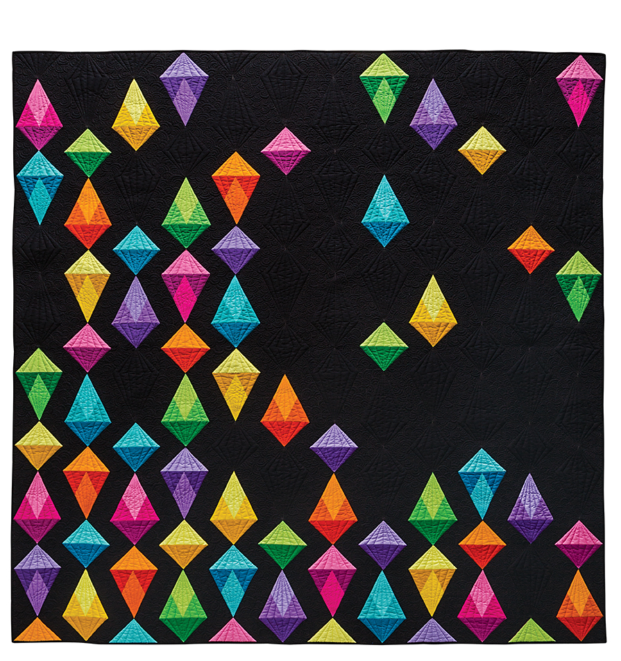 Jewel Drop from The Quilter's Negative Space Handbook by Sylvia Schaefer/Flying Parrot Quilts