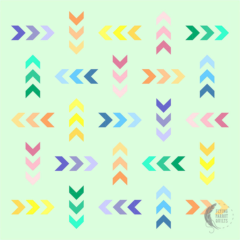 Mod Arrows mockup by Sylvia Schaefer/Flying Parrot Quilts | www.flyingparrotquilts.com